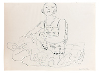 BNPS.co.uk (01202 558833)<br /> Pic: SalonDuDessin/BNPS<br /> <br /> Henri Matisse 'Femme assise crayon et encre papier'<br /> <br /> A exhibition reveals the brilliant technique behind some of the worlds greatest artists - as their stunning drawings come up for auction.<br /> <br /> Preparatory sketches are for most people nowadays the only way to ever own an original work by a famous artist and more than 1,000 drawings from some of the world's most famous have emerged on the market.<br /> <br /> The remarkable collection, which features drawings and preparatory sketches by Henri Matisse, Pablo Picasso, Edgar Degas and Salvador Dali, will be showcased at the six-day Salon Du Dessin exhibition in Paris in March.<br /> <br /> Notable works are tipped to sell for hundreds of thousands of euros and the overall value of the collection is estimated at 25-30 million euros.<br /> <br /> Drawings have become increasingly collectible in the past 10 years as they are seen as a more affordable way of getting hold of works from the art greats.<br /> <br /> Included in the sale are Matisse's 1944 drawing of 'apples' with pen and ink on paper, Degas' 'dancer' with charcoal on paper, Picasso's 'women with flowers' with pen and red pencil on paper and Dali's 'Madonna with Christ' using watercolour, ink and a ball-point pen.<br /> <br /> Degas' sketch of a dancer bares a striking resemblance to his famous sculpture of The Little Fourteen-Year-Old Dancer in 1881.