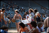 Having fun inside Roosevelt Stadium on 4 August 1976 before the Grateful Dead Concert. Warm breaze blowing, heat of the day advancing.