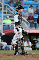 Jamestown Jammers catcher Dallas Hord during a game vs. the Batavia Muckdogs at Russell Diethrick Park in Jamestown, New York September 1, 2010.   Batavia defeated Jamestown 10-5.  Photo By Mike Janes/Four Seam Images