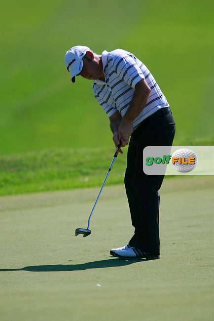Paul McGinley (IRL) in action on the 11th green during Thursday's Round 1 of the 2011 Iskandar Johor Open, Horizon Hills Golf Club, Johor, Malaysia, 15th November 2011 (Photo Eoin Clarke/www.golffile.ie)