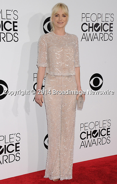 Pictured: Anna Faris<br /> Mandatory Credit &copy; Gilbert Flores /Broadimage<br /> 2014 People's Choice Awards <br /> <br /> 1/8/14, Los Angeles, California, United States of America<br /> Reference: 010814_GFLA_BDG_202<br /> <br /> Broadimage Newswire<br /> Los Angeles 1+  (310) 301-1027<br /> New York      1+  (646) 827-9134<br /> sales@broadimage.com<br /> http://www.broadimage.com