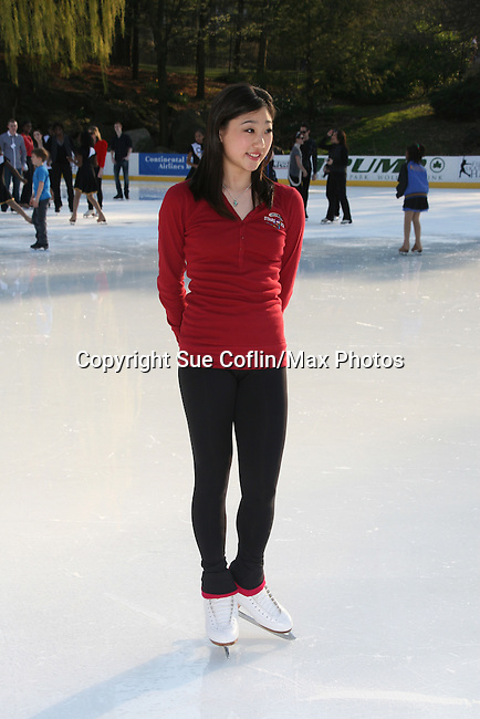 Skater Mirai Nagasu at Skating with the Stars (celebrities & Olympic skaters), a benefit gala for Figure Skating in Harlem on April 6, 2010 at Wollman Rink, Central Park, New York City, New York. (Photo by Sue Coflin/Max Photos)