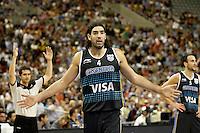 Argentina's Luis Scola during friendly match.July 22,2012. (ALTERPHOTOS/Acero) /NortePhoto.com*<br /> **CREDITO*OBLIGATORIO** <br /> *No*Venta*A*Terceros*<br /> *No*Sale*So*third*<br /> *** No Se Permite Hacer Archivo**