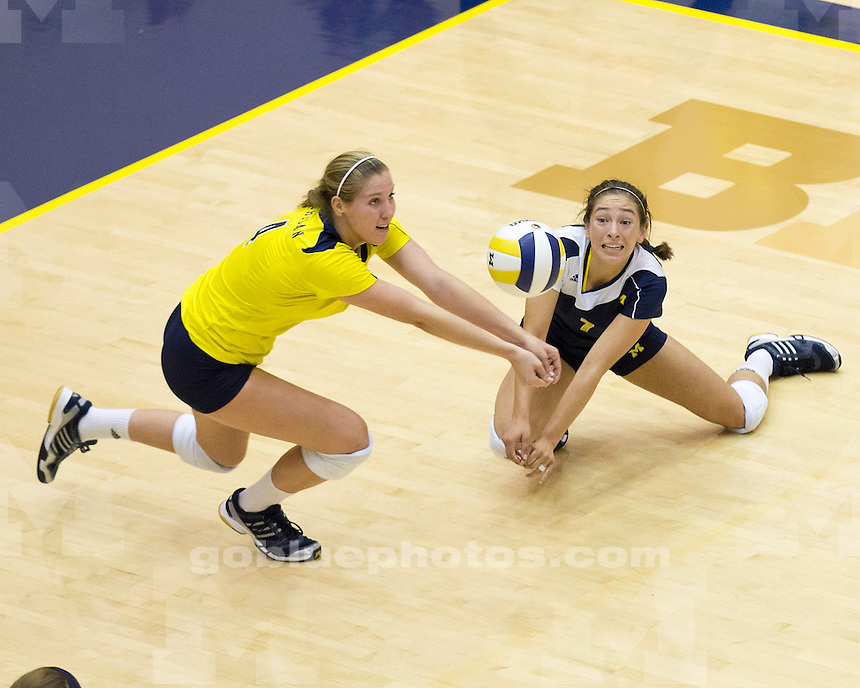 The University of Michigan women's volleyball team beat Eastern Michigan University, 3-0 at Cliff Keen Arena in Ann Arbor, Mich., on September, 14, 2012.