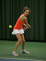 Rotterdam, The Netherlands, 15.03.2014. NOJK 14 and 18 years ,National Indoor Juniors Championships of 2014, Evy Markovits (NED)<br /> Photo:Tennisimages/Henk Koster