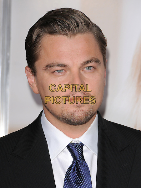 "LEONARDO DI CAPRIO.World Premiere of ""Revolutionary Road"" held at The Mann Village Theatre in Westwood, California, USA. .December 15th, 2008 .headshot portrait DiCaprio stubble facial hair.CAP/DVS.©Debbie VanStory/Capital Pictures."