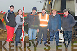 MARKING: Marking the field for ploughing on Sunday on Mike McCarthy land, Ballymacquinn, Ardfert  on Suday L-r: Colm Dineen, Martina Flynn, Derek Driscoll, Mike Sullivan, Brendan Blackwell and Mike McCarthy.