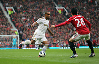 Pictured: (L-R) Wayne Routledge, Shinji Kagawa.<br /> Sunday 12 May 2013<br /> Re: Barclay's Premier League, Manchester City FC v Swansea City FC at the Old Trafford Stadium, Manchester.