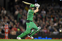 10th January 2020; Marvel Stadium, Melbourne, Victoria, Australia; Big Bash League Cricket, Melbourne Renegades versus Melbourne Stars; Nick Larkin of the Stars hits the ball - Editorial Use