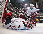 Chris Rawlings (Northeastern - 37), Tyler McNeely (Northeastern - 94), Tommy Cross (BC - 4), Steve Silva (Northeastern - 17), Pat Mullane (BC - 11) - The Northeastern University Huskies defeated the visiting Boston College Eagles 2-1 on Saturday, February 19, 2011, at Matthews Arena in Boston, Massachusetts.