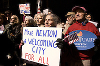 Sanctuary City Ordinance Rally Newton MA 2.8.17