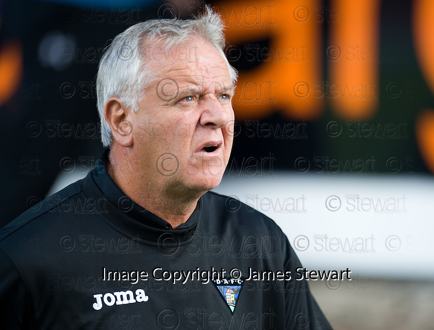 Dunfermline boss Jim Jeffries makes his way back to the tunnel at the end of the game.