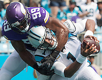 Charlotte, NC - September 25, 2016: The Carolina Panthers play the Minnesota Vikings at Bank of America Stadium.