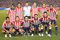 Chivas USA starting eleven.  Chivas USA defeated Toronto FC 2-0 at Home Depot Center stadium in Carson, California on Saturday, August 22, 2009...