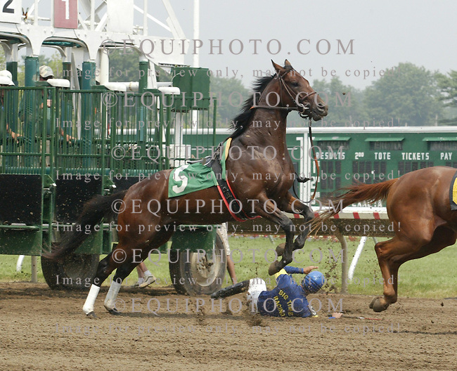 Thoroughbred Racing at Monmouth Park Racetrack in Oceanport, N.J.