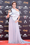 Ana Belen pose to the media with the honorific Goya  award at Madrid Marriott Auditorium Hotel in Madrid, Spain. February 04, 2017. (ALTERPHOTOS/BorjaB.Hojas)