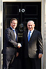 Benjamin &quot;Bibi&quot; Netanyahu the Prime Minister of Israel and Chairman of the Likud party meeting David Cameron Prime Minister in Downing Street, London, Great Britain<br /> 10th September 2015 <br /> <br /> Photograph by Elliott Franks <br /> <br /> Image licensed to Elliott Franks Photography Services