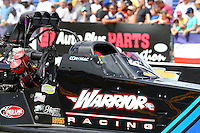 Mar 13, 2015; Gainesville, FL, USA; NHRA top fuel driver Cory McClenathan during qualifying for the Gatornationals at Auto Plus Raceway at Gainesville. Mandatory Credit: Mark J. Rebilas-