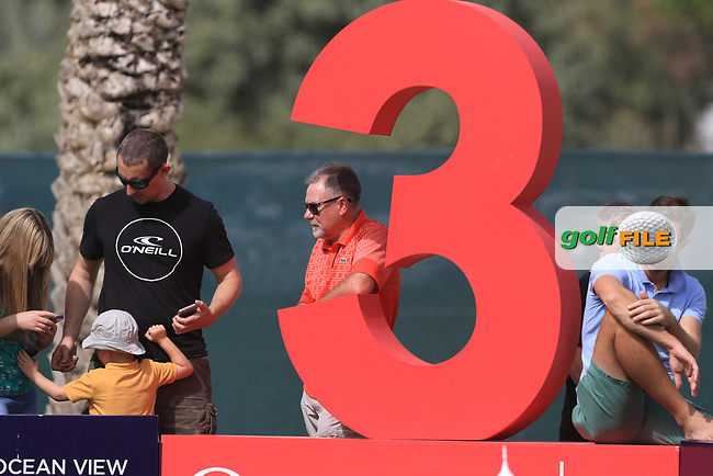 Waiting at the 3rd during Round 2 of the Omega Dubai Desert Classic, Emirates Golf Club, Dubai,  United Arab Emirates. 25/01/2019<br /> Picture: Golffile | Thos Caffrey<br /> <br /> <br /> All photo usage must carry mandatory copyright credit (&copy; Golffile | Thos Caffrey)