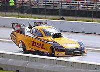 Jun 4, 2016; Epping , NH, USA; NHRA funny car driver Del Worsham during qualifying for the New England Nationals at New England Dragway. Mandatory Credit: Mark J. Rebilas-USA TODAY Sports