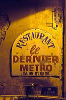 Restaurant Dernier Metro in Bastia, Korsika, Frankreich
