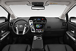Stock photo of straight dashboard view of 2018 Toyota Grand-Prius+ business-plus 5 Door Mini Mpv Dashboard