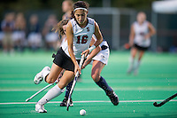 STANFORD, CA - September 3, 2010: Katherine Swank during a field hockey match against UC Davis in Stanford, California. Stanford won 3-1.