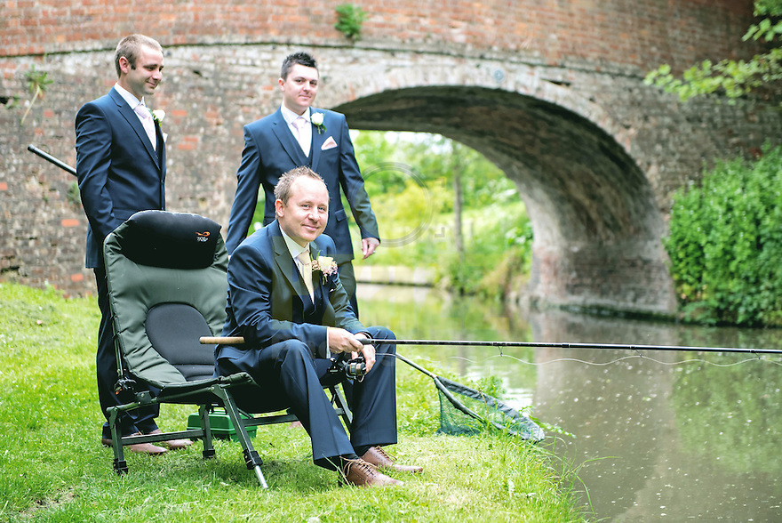 Three men and a fishing rod