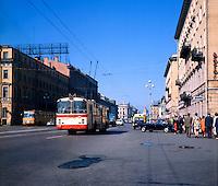 Public transport. Series of images of Leniningrad/St Petersburg Russia 1976
