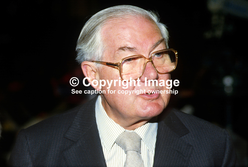 James Callaghan, MP, Labour Party, UK, 19840124JC2, former Prime Minister..Copyright Image from Victor Patterson, 54 Dorchester Park, Belfast, UK, BT9 6RJ..Tel: +44 28 9066 1296.Mob: +44 7802 353836.Voicemail +44 20 8816 7153.Skype: victorpattersonbelfast.Email: victorpatterson@me.com.Email: victorpatterson@ireland.com (back-up)..IMPORTANT: If you wish to use this image or any other of my images please go to www.victorpatterson.com and click on the Terms & Conditions. Then contact me by email or phone with the reference number(s) of the image(s) concerned.