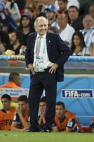 Argentina manager Alejandro Sabella looks dejected