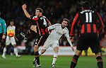Dan Gosling of Bournemouth is challenged by Juan Mata of Manchester United<br /> - Barclays Premier League - Bournemouth vs Manchester United - Vitality Stadium - Bournemouth - England - 12th December 2015 - Pic Robin Parker/Sportimage