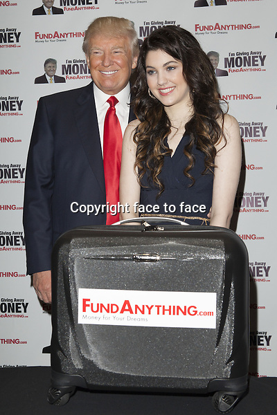 Donald Trump, Celeste Buckingham // NEW YORK, NY - MAY 8: Donald_Trump promotes FundAnything.com during a press conference at Trump Tower in New York City. May 8, 2013...Credit: MediaPunch/face to face..- Germany, Austria, Switzerland, Eastern Europe, Australia, UK, USA, Taiwan, Singapore, China, Malaysia, Thailand, Sweden, Estonia, Latvia and Lithuania rights only -