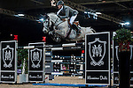 Henrik von Eckermann of Germany riding Crespo PKZ in action at the Gucci Gold Cup during the Longines Hong Kong Masters 2015 at the AsiaWorld Expo on 14 February 2015 in Hong Kong, China. Photo by Xaume Olleros / Power Sport Images