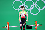 Hiromi Miyaka (JPN), <br /> AUGUST 6, 2016 - Weightlifting : <br /> Women's 48kg <br /> at Riocentro - Pavilion 2 <br /> during the Rio 2016 Olympic Games in Rio de Janeiro, Brazil. <br /> (Photo by YUTAKA/AFLO SPORT)