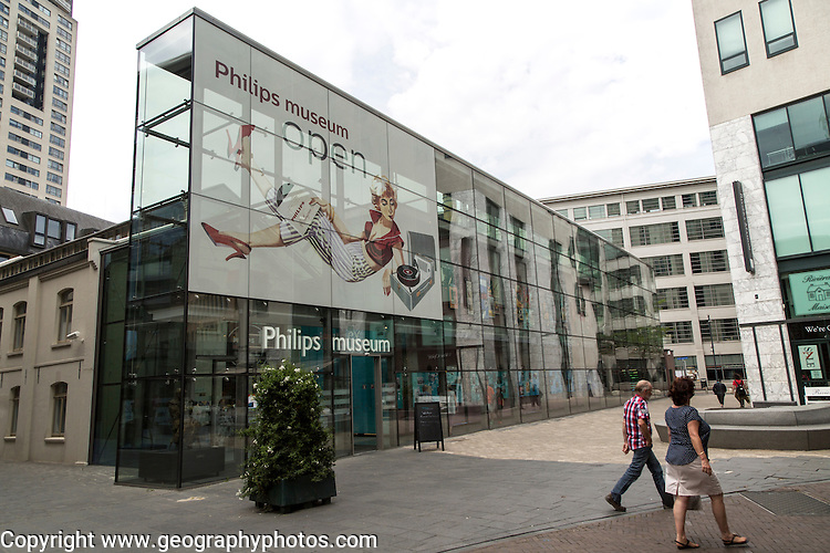 Philips museum building, Eindhoven city centre, North Brabant province, Netherlands