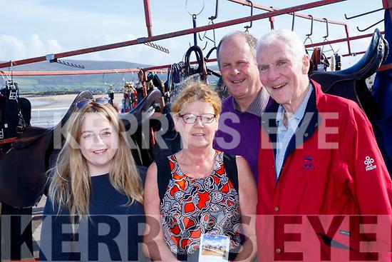 Bit&amp;Bridle<br /> -------------<br /> L-R Susan&amp;Annie Ni Niallain, Seamus Cosai MacGearailt with Mike McKenna trotting around at the races last Sunday.