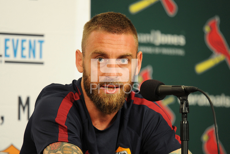 St Louis, MO. - July 31, 2016: A.S Roma held a press conference ahead of their international friendly soccer game at Busch Stadium.