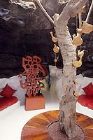 Europe/Espagne/Canaries/Lanzarote/Env de Teguise/Taro de Tahiche : La fondation César Mantique dans l'ancienne demeure de l'artiste - Détail d'une des 5 grottes