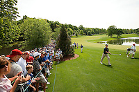 Indianapolis Colts quarterback Peyton Manning plays the course during the Quail Hollow Championship 2009 Pro-Am in Charlotte, North Carolina. The Pro-Am is held as part of the professional championship, formerly called the Wachovia Championship, which is a top event on the PGA Tour, attracting such popular golf icons as Tiger Woods, Vijay Singh and Bubba Watson.
