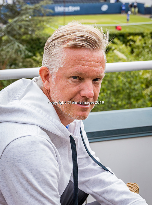 Rosmalen, Netherlands, 13 June, 2019, Tennis, Libema Open, Coach of David Goffin : Thomas Johansson (SWE)<br /> Photo: Henk Koster/tennisimages.com