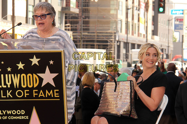 HOLLYWOOD, CA - March 17: Kathy Bates, Kate Winslet at the Kate Winslet Star on the Hollywood Walk of Fame, Hollywood,  March 17, 2014.  <br /> CAP/MPI/JO<br /> &copy;Janice Ogata/MediaPunch/Capital Pictures