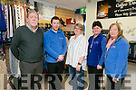 At the  official  Opening of St Vincent De Paul Shop Vincent's on Monday were l-r  Pat Herlihy, Manager, Darragh O'Callaghan, Sheila Healy, Teresa Lynch, Volunteer and Helen Locke, Volunteer