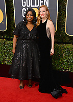 Octavia Spencer & Jessica Chastain at the 75th Annual Golden Globe Awards at the Beverly Hilton Hotel, Beverly Hills, USA 07 Jan. 2018<br /> Picture: Paul Smith/Featureflash/SilverHub 0208 004 5359 sales@silverhubmedia.com