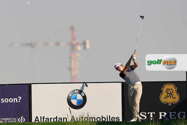 Jordi Garcia Pinto (ESP) tees off the 9th tee during Thursday's Round 2 of the 2015 Commercial Bank Qatar Masters held at Doha Golf Club, Doha, Qatar.: Picture Eoin Clarke, www.golffile.ie: 1/22/2015