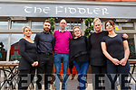 The Staff at the Fiddler Bar and Restaurant on Friday morning. <br /> L to r: Zena Lennon, Aidan O'Donoghue, Bernard and Ger Cassidy, Carmel Riordan and Trish McNamara.