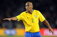 Maicon of Brazil. Brazil defeated USA 3-2 in the FIFA Confederations Cup Final at Ellis Park Stadium in Johannesburg, South Africa on June 28, 2009.