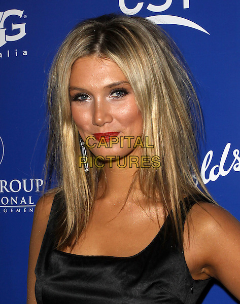 DELTA GOODREM.Australians In Film's 2010 Breakthrough Awards held At The Thompson Hotel, Beverly Hills, California, USA..May 13th, 2010.headshot portrait black red lipstick tan tanned skin messy hair.CAP/ADM/KB.©Kevan Brooks/AdMedia/Capital Pictures.