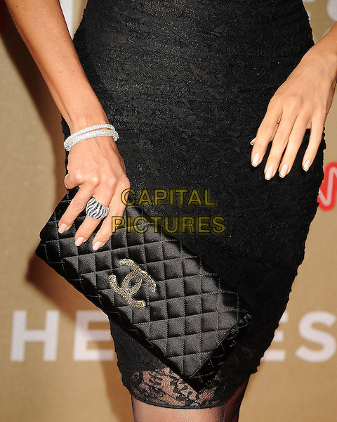 Sofia Vergara's bag.CNN Heroes: An All-Star Tribute 2011 held at The Shrine Auditorium, Los Angeles, California, USA..December 11th, 2011.detail chanel clutch bracelet ring  black lace viagra .CAP/ROT/TM.©Tony Michaels/Roth Stock/Capital Pictures