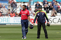 Varun Chopra of Essex acknowledges the crowd after reaching his century during Essex Eagles vs Gloucestershire, Royal London One-Day Cup Cricket at The Cloudfm County Ground on 7th May 2019